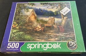 Springbok's 500 Piece Jigsaw Puzzle Evening at the Lake