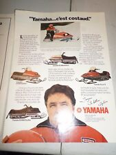 1979 Yamaha  Snowmobile Magazine 2 Page French ad Enticer Excel V Exciter