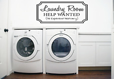 Laundry Room Help Wanted Words Quote Transfer Wall Art Sticker Decal Q93