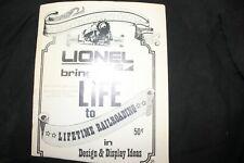 Vintage, Lionel Brings Life To Lifetime of Railroading In Design Display Booklet