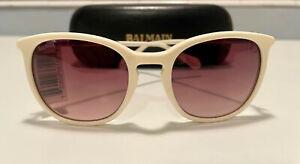 BALMAIN BL2084B 03 Ivory/Brown Gradient Lens 51mm Sunglasses Fast Ship