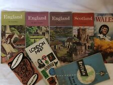 Vintage COME TO BRITAIN ENGLAND Maps And Tourist Booklet 1950's
