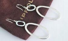 Ippolita - Sterling Silver Oval Wavy Dangle Hoop Drop Earrings - New!