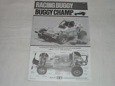 Tamiya 58441 1/10 RC Manuel Manual SRB Buggy Champ 4x2 Baja (Original) - New