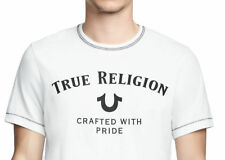 True Religion Men's Classic Logo Tee T-Shirt in White