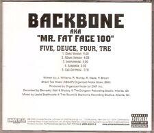 BACKBONE - Five Deuce Four Tre (CD Promo Single 2000) Rare Atlanta Georgia G-Rap