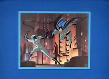 The CAT & The CLAW PRINT PROFESSIONALLY MATTED Warner Bros Batman Catwoman