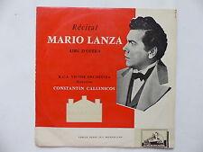 """25 cms 10"""" Récital MARIO LANZA Airs d opéra CONSTANTIN CALLINICOS RCA VICTOR Orc"""