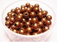 Pkg Copper Beads of 144 Antique Copper Bicone Beads 4.8 MM