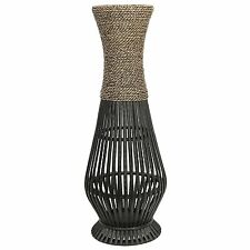 "Decorative Floor Vase 26"" Elegant Large Tall Display Home Decor Metal Bamboo SPA"