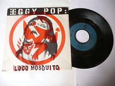 """IGGY POP"""" LOCO MOSQUITO-disco 45 giri ARISTA Fe 1980 -PUNK-PERFETTO"""