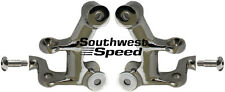 NEW 1928-1934 FORD MODEL A 4-BAR BATWING BRACKETS,PAIR,POLISHED STAINLESS STEEL