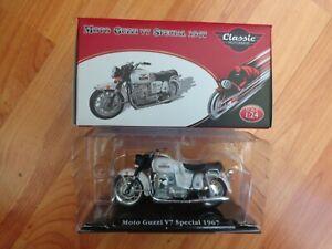 1/24 ATLAS IXO - CLASSIC MOTOR BIKES- MOTO GUZZI V7 SPECIAL 1967 BIKE MOTORCYCLE