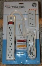 New listing Ge 12 Outlet Power Value Pack - Power Strip, Extension Cord, Wall Tap