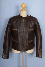 Vtg 1940s GERMAN Leather Motorcycle Flight Jacket Luftwaffe Small
