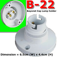 B22 Bayonet Cap ceiling / wall mount Batten Lamp Holder BC bulb lighting kit DIY