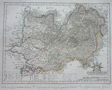 Görög: Kupferstich Landkarte Komitat Ung/Ungvar Uschhorod Ukraine; 1806