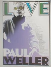 PAUL WELLER may 2008 limited UK TOUR poster 23.5 x 16.5 official ex tour JAM