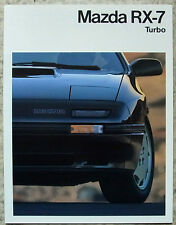 MAZDA RX-7 TURBO Car Sales Brochure c1990 FRENCH TEXT
