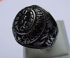 Anillo de acero inoxidable sello anillo Marine Military USMC United States Marine Corps