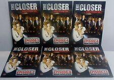 The Closer Single Episode DVD's, Season 3 Episode 3,4,6,7,9,10,11,12,13(DVD) NEW