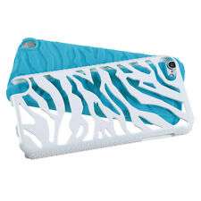 iPod Touch 5 5th G Hybrid Zebra Fusion Silicone Case Phone Cover White Teal
