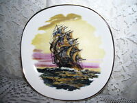 CLIPPER SHIP PLATE WEATHERBY HANLEY ROYAL FALCON WARE COLLECTIBLE PLATE
