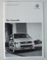 Volkswagen der Caravelle 2011 Preisliste Prospekt Katalog Preise VW Bus B7362