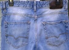 32 x 32 Men's Hugo Boss Orange Denim Pants Button Fly Blue Jeans 32x32 31 30 USA