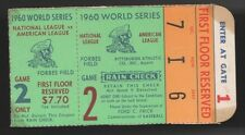 1960 WORLD SERIES GAME 2 TICKET STUB PITTSBURGH PIRATES MICKEY MANTLE 2 HRS STAI