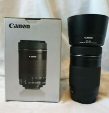 Canon EF-S  55-250mm f/4-5.6 STM IS Lens Boxed With Lens Hood