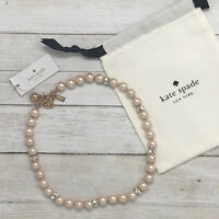 NWT Kate Spade Lady Marmalade Pearl Blush Necklace MSRP $98