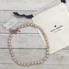 Kate Spade Women's Lady Marmalade Rose Gold Blush Pearl Necklace O0RU2144