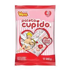 2 Bags Vero Paleta Cupido Lollipop  The Original Mexican Candy Dulce 80pz Pops