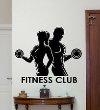 Fitness Club Wall Decal Sport Man Woman Gym Vinyl Sticker Art Decor Mural 41fit