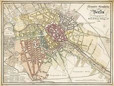 MAP ANTIQUE 1826 REYMANN BERLIN CITY PLAN OLD LARGE REPLICA POSTER PRINT PAM0281