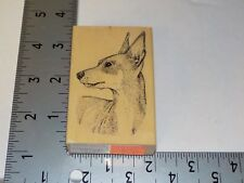 STAMP GALLERY MINIATURE PINSCHER DOG RUBBER STAMP EUC USED A6085