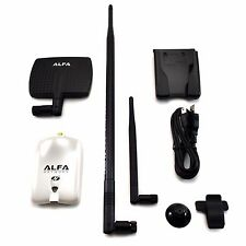 Alfa AWUS036NHR V2 Wireless N USB Adapter 7dBi Antenna + 9dBi Antenna + U-Mount