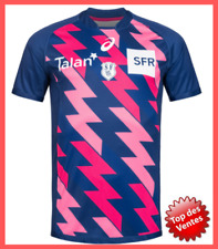 Stade Francais Rugby Maillot Homme Manches Courtes Asics Top 14 XV de France