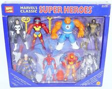 "Toy Biz Marvel GREATEST SUPER HEROES 8x 4"" Action Figure Play Set MISB`96 RARE!"