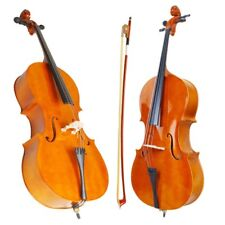 FULL SIZE 4/4 ACOUSTIC CELLO BEGINNER W/ STORAGE BAG + TUNER  +ROSIN +STRINGS FB