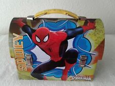 Marvel Spiderman Workman's Style Dome Tin Box with Clips - 2014 #2 Spidey 2014