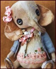 Bears artist Antique Vintage Elephant Teddy Bear doll Ooak baby