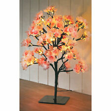 Luz Led Con Pilas Árbol De Mesa Lámpara De Luz De Noche Rosa Flor De Cerezo árbol