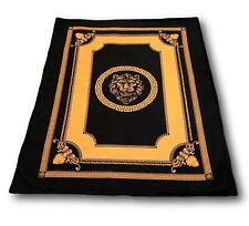 Exclusive Meander Sherpa Cover Blanket Lion Black-Gold Medusa Versac