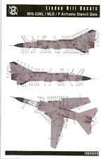 Linden Hill Decals 1/48 MIKOYAN MiG-23 ML/MLD/P AIRFRAME STENCIL DATA