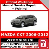 FACTORY WORKSHOP SERVICE REPAIR MANUAL MAZDA CX7 2006-2012 +WIRING