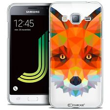 Coque Housse Etui Pour Samsung Galaxy J3 2016 (J320) Polygon Animal Rigide Fin R