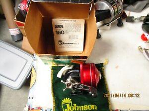 VNT Johnson Guide Model 160 Accu-cast Spincasting FISHING REEL USA W/box & bag