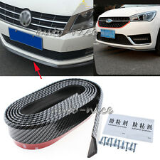 2.5M Universal Carbon Fiber Black Front Bumper Lip Splitter Spoiler Body Kit